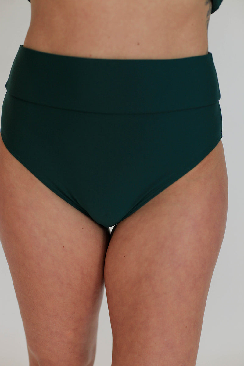 Band Mid-Rise Bottoms - Juniper
