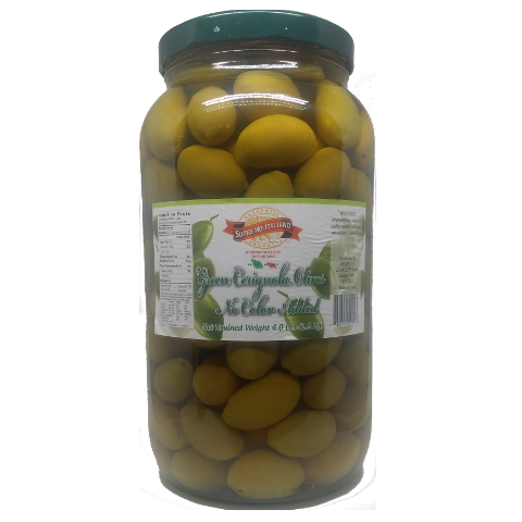 Olives, Cerignola Green, with pits
