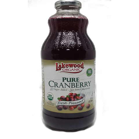 Fresh Pressed Organic Cranberry Juice, No Sugar, No Water. 100% Juice