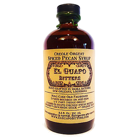 "El Guapo Spiced Pecan Syrup ""Creole Orgeat"""