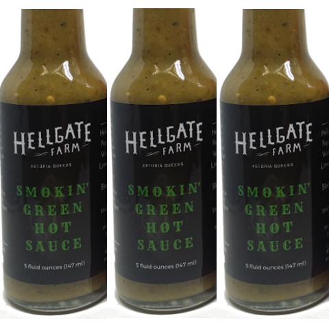 Hot Sauce, Hellgate Farm Local NYC, Smokin' Green
