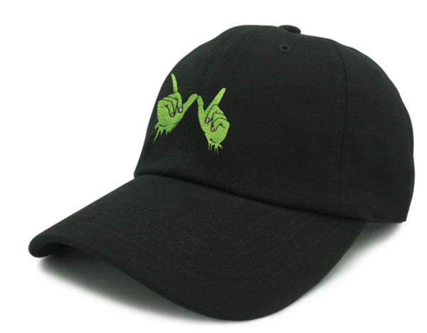 Zombie Whatever Embroidered Unstructured Dad Hat - Black