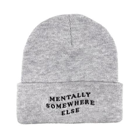 Mentally Somewhere Else Beanie - Grey
