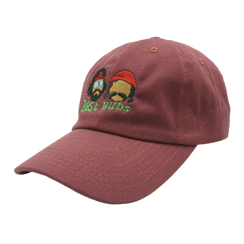 Best Buds Dad Hat - Maroon
