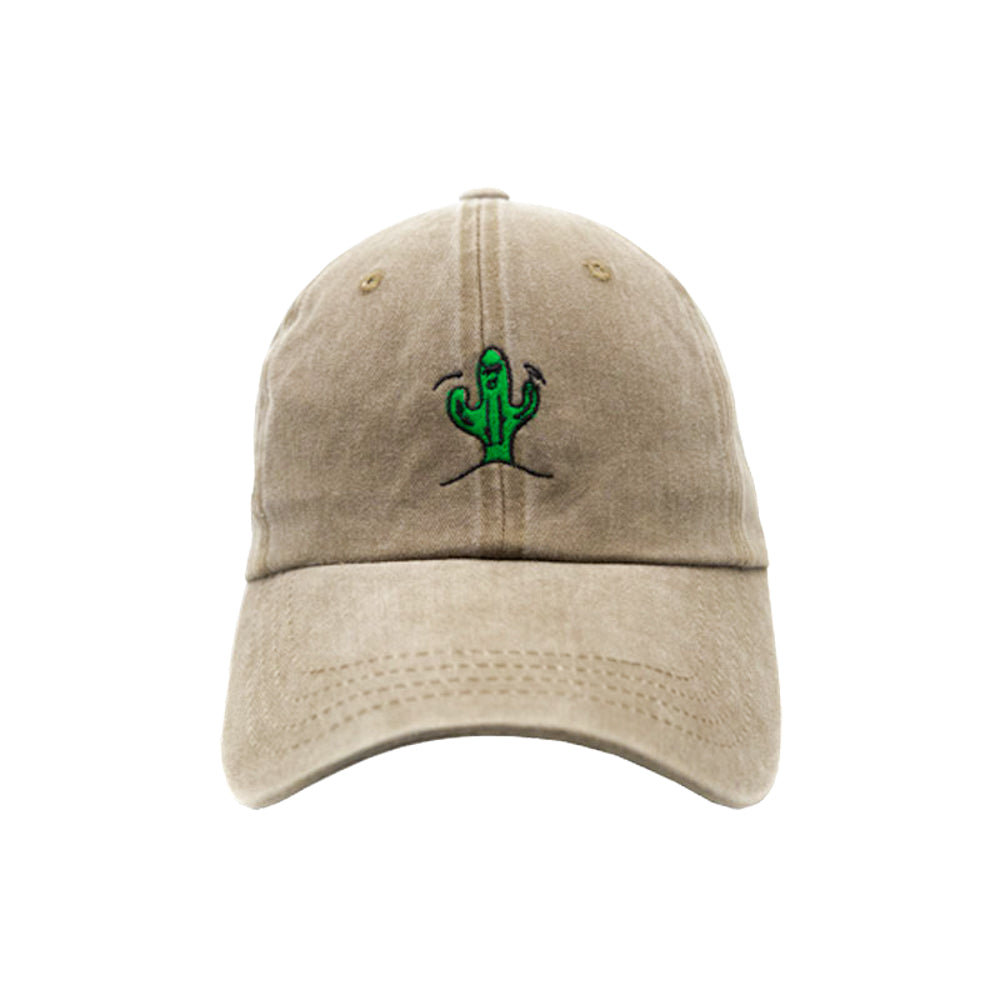 Cool Cactus Dad Hat - Washed Brown