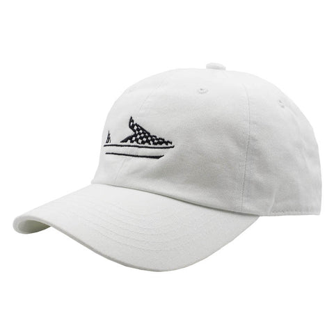 Checkered Slip On Dad Hat - White