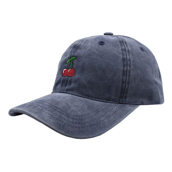 Cherry Dad Hat - Washed Blue