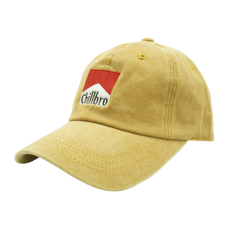 Chillbro Dad Hat - Mustard Denim - Chill Hat