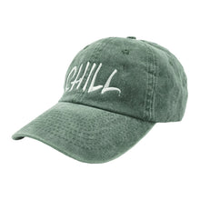 Load image into Gallery viewer, Chill Hat Dad Hat - Green Denim - Chill Hat