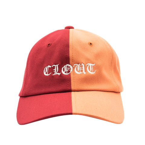 Clout Dad Hat - Two Tone Red/Orange