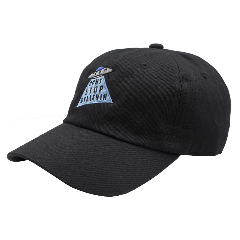 Don't Stop Believin Dad Hat - Black
