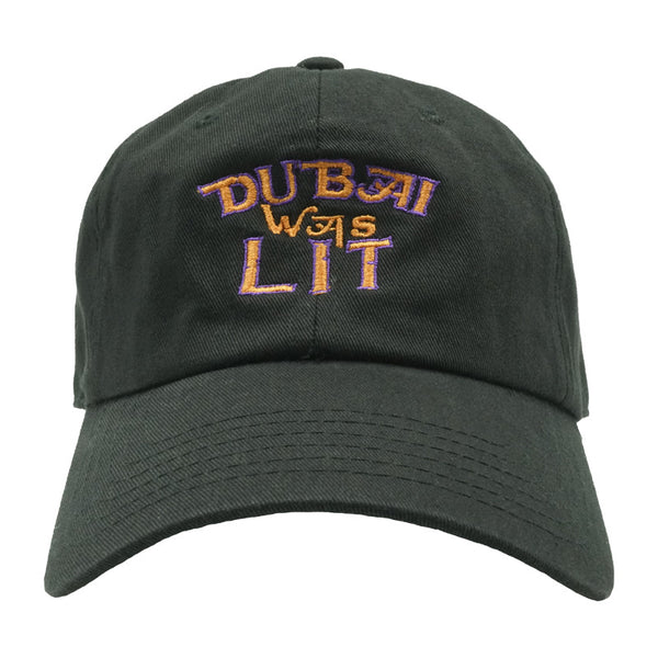 Dubai Was Lit Dad Hat - Black