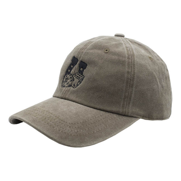 Lucky Dad Hat - Washed Brown
