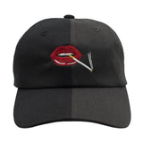 Lips Dad Hat - Two/Tone Black/Grey