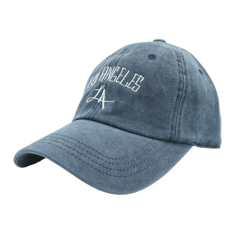 Los Angeles Dad Hat - Blue Denim - Chill Hat