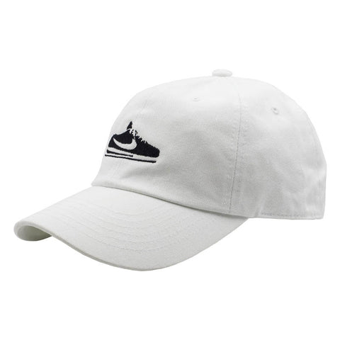 Old School Sneaker Dad Hat - White