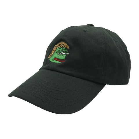 Pepe Trump Dad Hat - Black