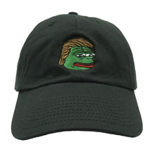 Load image into Gallery viewer, Pepe Trump Dad Hat - Black - Chill Hat