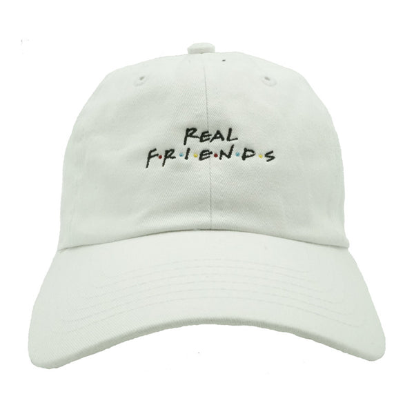 Real Friends Dad Hat - White