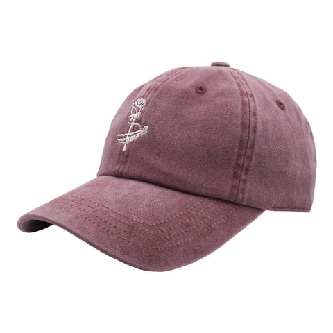 Rose Dad Hat - Washed Red