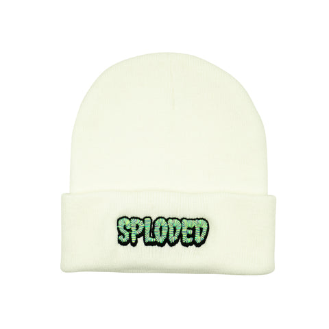 SPLODED Beanie - White