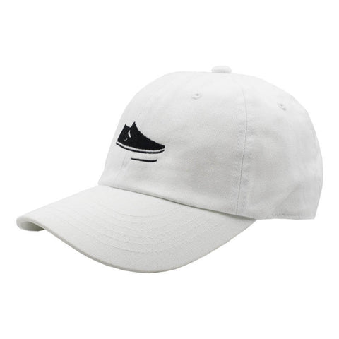 Slip On Dad Hat - White