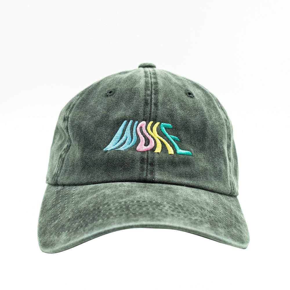 WOKE Pigment Dyed Dad Hat - Black