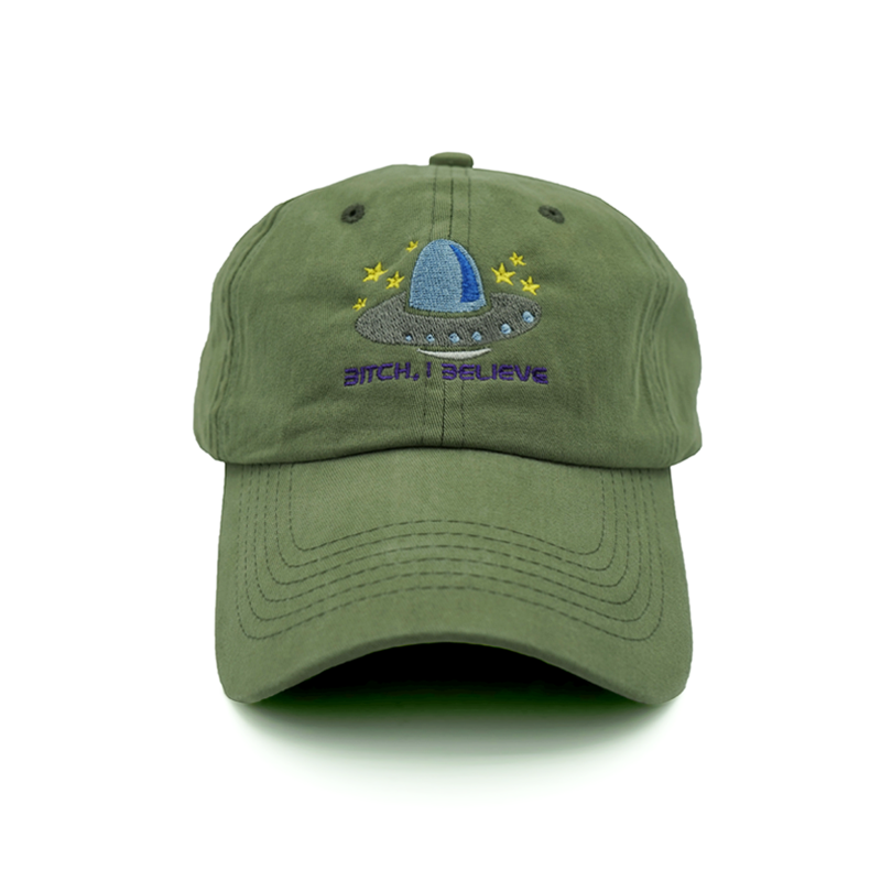 Bitch, I Believe Dad Hat - Olive - Chill Hat