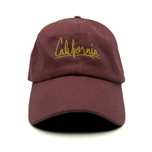 Load image into Gallery viewer, California Dad Hat - Maroon - Chill Hat