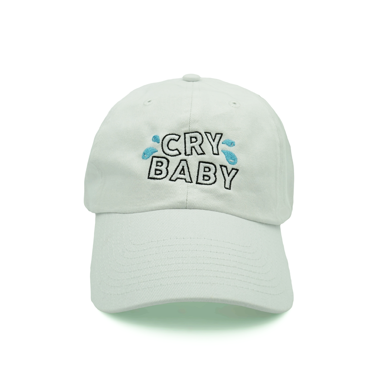 Cry Baby Dad Hat - White - Chill Hat