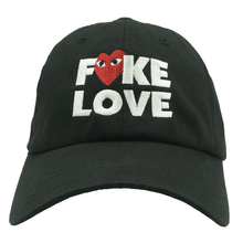 Load image into Gallery viewer, Fake Love Dad Hat - Black