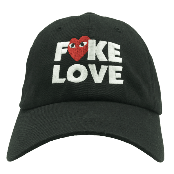Fake Love Dad Hat - Black