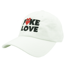 Load image into Gallery viewer, Fake Love Dad Hat - White