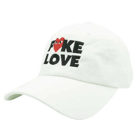 Fake Love Dad Hat - White