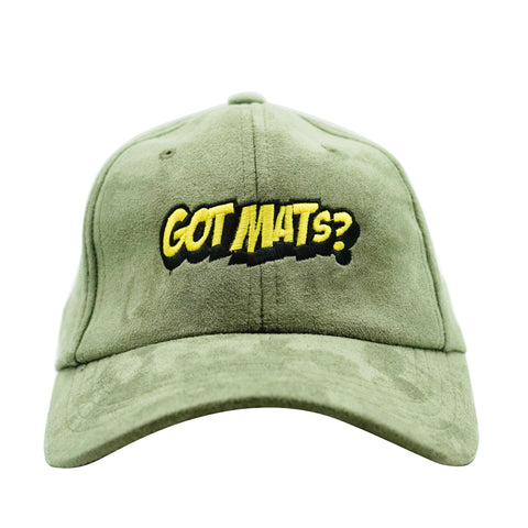 Got Mats? Faux Suede Dad Hat - Olive
