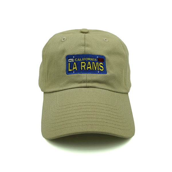 LA Rams License Plate Dad Hat - Khaki - Chill Hat