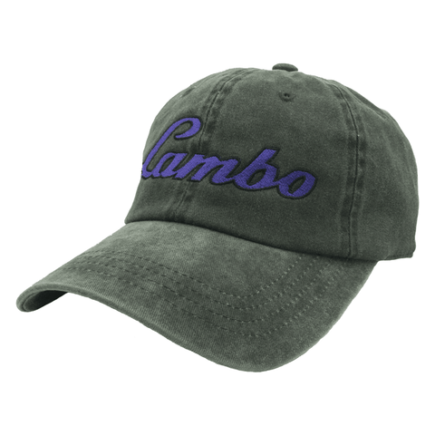Lambo Dad Hat - Black Denim