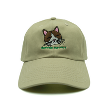 Load image into Gallery viewer, Smoke Meowt Dad Hat - Khaki - Chill Hat