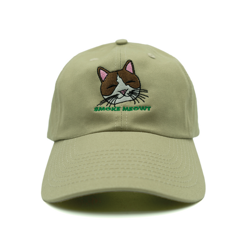 Smoke Meowt Dad Hat - Khaki - Chill Hat