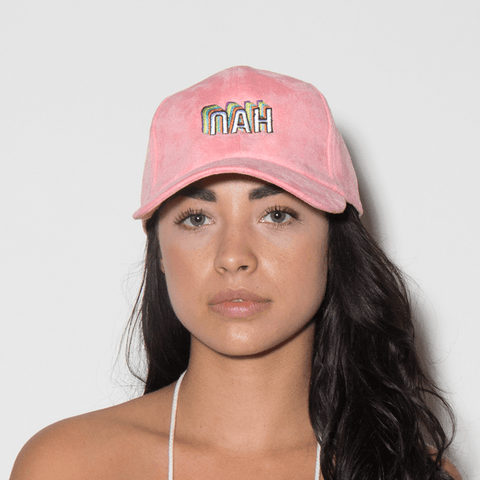 Nah Dad Hat - Pink Suede - Chill Hat
