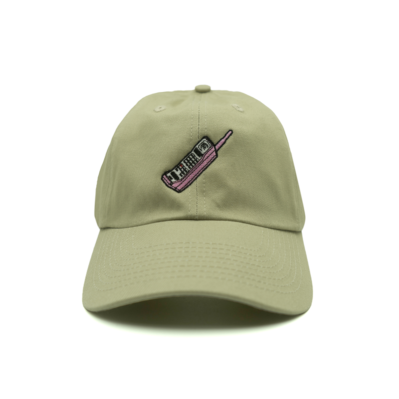Mobile Phone Dad Hat - Khaki - Chill Hat