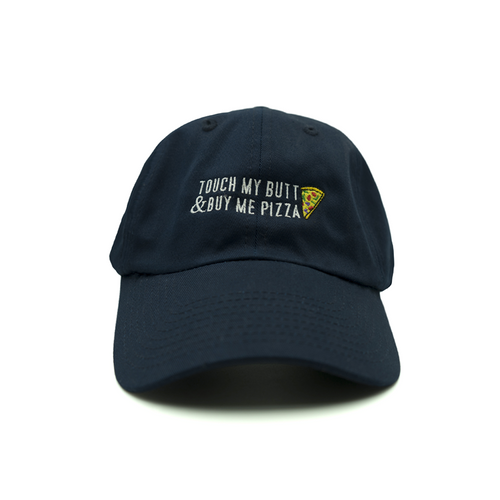 Pizza Butt Dad Hat - Navy - Chill Hat
