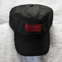 Load image into Gallery viewer, Stranger Danger Dad Hat - Black - Chill Hat