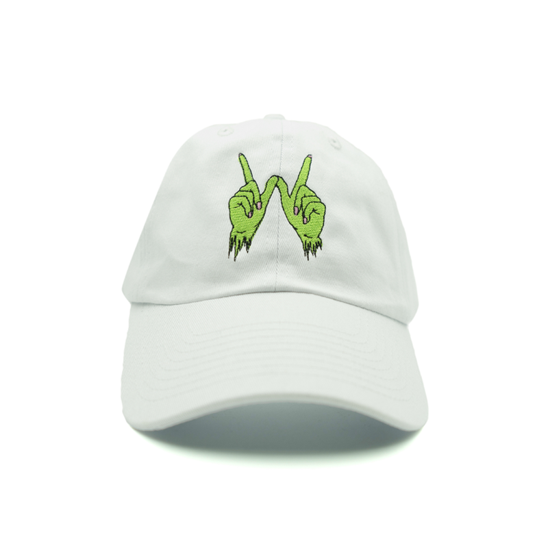 Zombie Whatever Dad Hat - White - Chill Hat