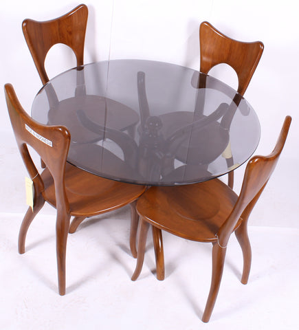 teak dinning room and 4 chairs-TD01