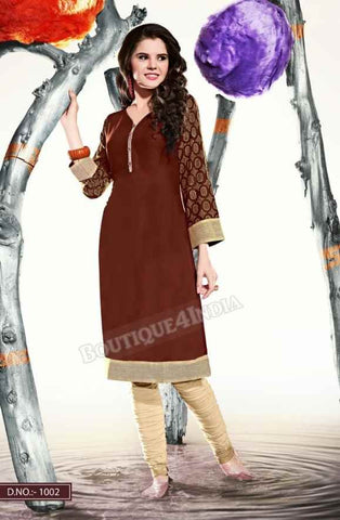 Brown Color Ravishing Rayon Fabric Kurti
