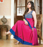Heavy Work Anarkali Style Collection - Pink, Blue And Golden  Ready To Stitch Material - Pink, Blue And Golden Beautiful Anarkali Style Long Salwars With Dazzling Embroidery Work / Party / Special Occasions / Wedding / Casual - Ready to Stitch - Boutique4India Inc.