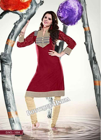 Maroon Color Ravishing Rayon Fabric Kurti