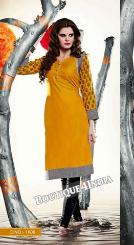 Sandal Color Ravishing Rayon Fabric Kurti