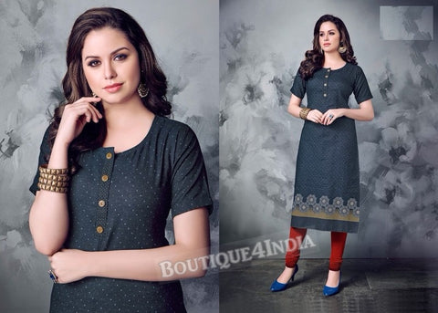 Denim winter wear desi kurti